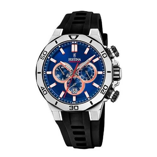 Reloj analógico azul-negro 49-1