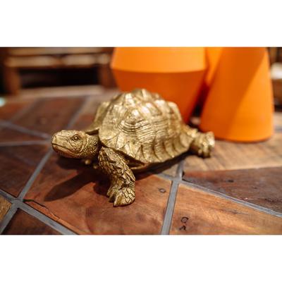 Figura decorativa Turtle oro peq.