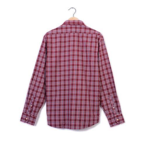 Camisa Manga Larga Wooster Color Siete Para Hombre - Rojo