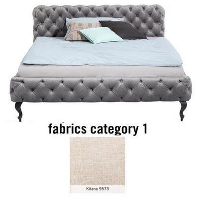 Cama Desire, tela 1 - Kitana 9573, (100x217x228cms), 200x200cm (no incluye colchón)