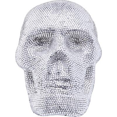 Cabeza decorativa Crystal Skull plata peq.