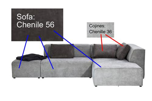 Chenille Derechotela 56Cojines Oscuro Gris Sofá Infinity 3A5jLq4R