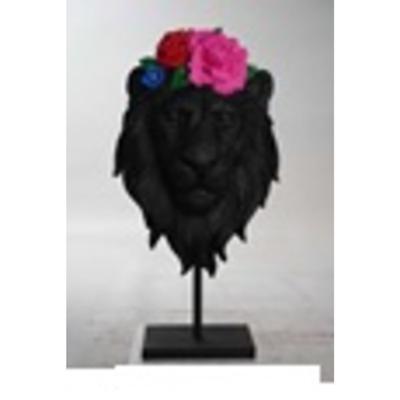 Objeto decorativo Mask Lion Flower