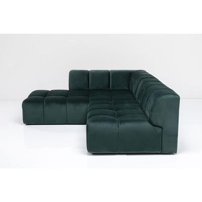 Sofá esq Belami Velvet verde oscuro izq 265cm