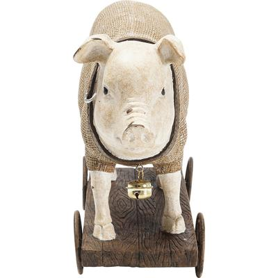 Figura decorativa Pig On Wheels