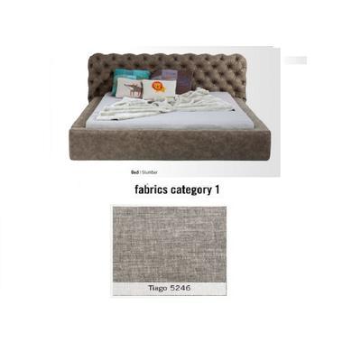Cama Slumber, tela 1 - Tiago   5246,   (82x228x239cms), 180x200cm (no incluye colchón)