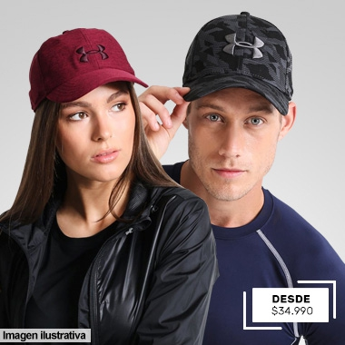UNDER ARMOUR GORRAS DESDE $34,990