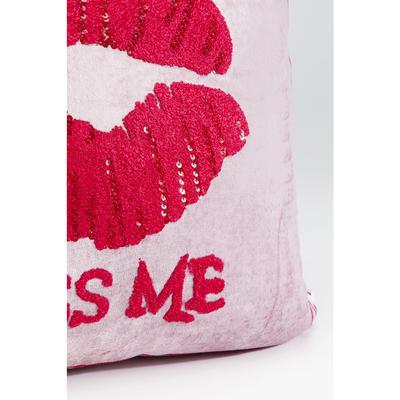 Cojines Kiss Me rosa 40x40cm