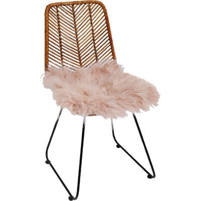 Cojín asiento Lammfell rosa 40x40cm