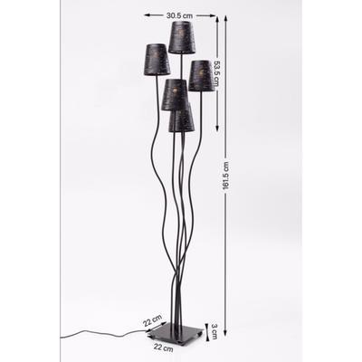 Lámpara pie Flexible negro 5