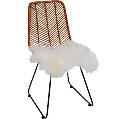 Cojín asiento Lammfell blanco 40x40cm