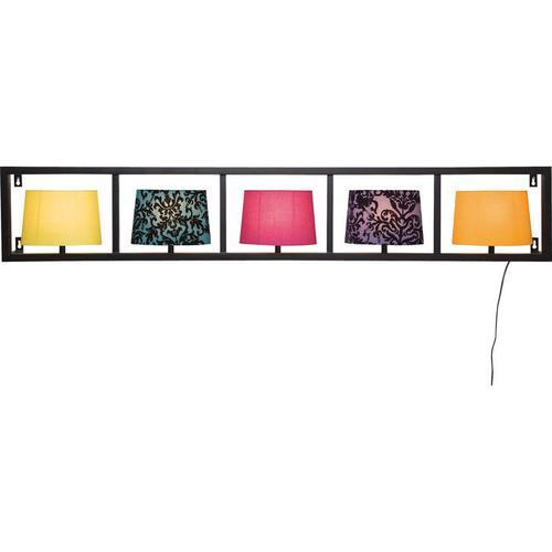 Lámpara pared Parecchi horizontal negro