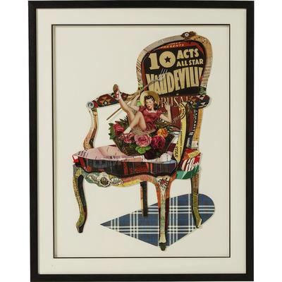 Cuadro Art Chair Pin Up 90x72cm