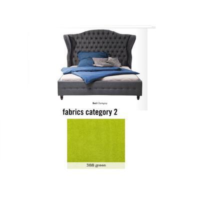 Cama City Spirit, tela 2 - 388 green,  (120x156x260cms), 200x200cm (no incluye colchón)