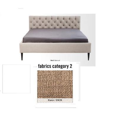 Cama Nova,  tela 2 - Baron 9909,   (85x220x215cms), 180x200cm (no incluye colchón)