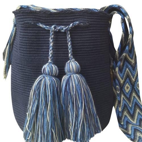 Mochila - Azul Oscuro Con Gasa Estilo Antajirasu