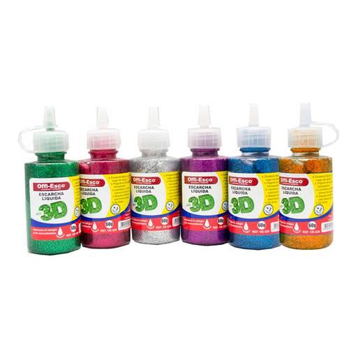 Escarcha Liquida 60 Gr Caja X12 Colores Surtidos