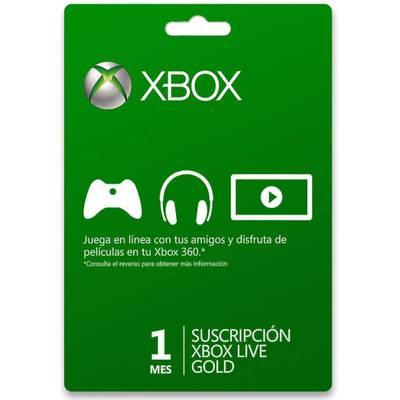 Xbox Live 1 Meses Gold