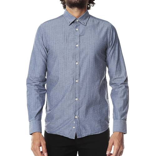 Camisa Manga Larga Jack Supplies para Hombre-Azul