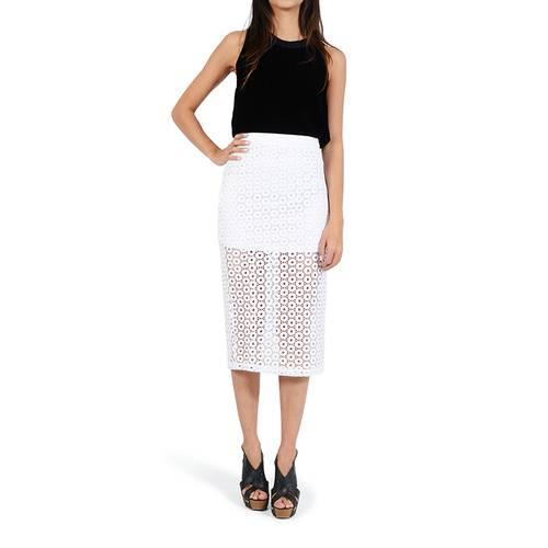 Falda Color Siete para Mujer - Blanco