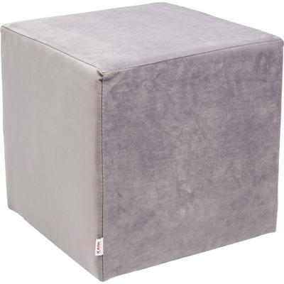 Taburete Velvet gris plata