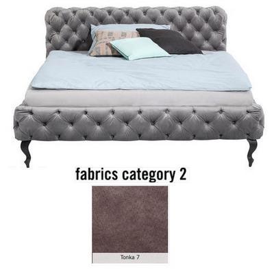 Cama Desire, tela 2 - Tonka 7,(100x177x228cms), 160x200cm (no incluye colchón)