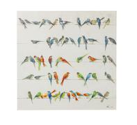 Cuadro Birds Meeting 100x10