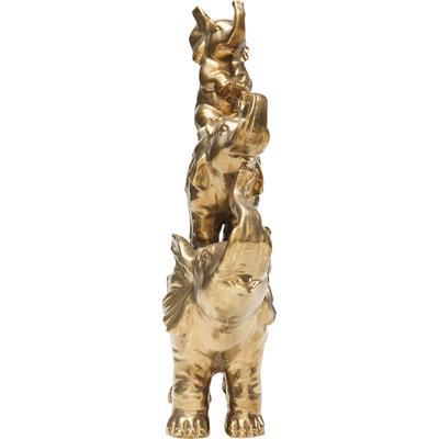 Figura decorativa Circus Elephants oro