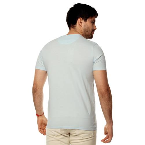 Camiseta Color Siete Para Hombre  - Azul