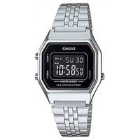 Reloj digital negro-plateado A-1B