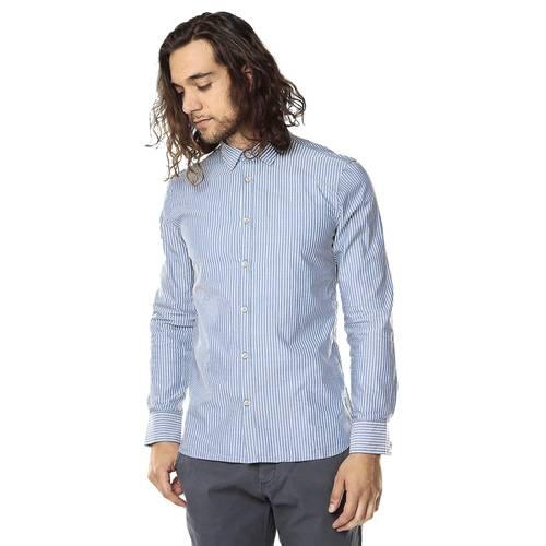 Camisa Manga Larga Para Hombre Rose Pistol - Azul