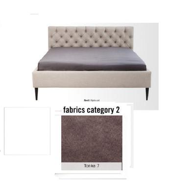 Cama Nova,  tela 2 - Tonka 7,  (85x220x215cms), 180x200cm (no incluye colchón)