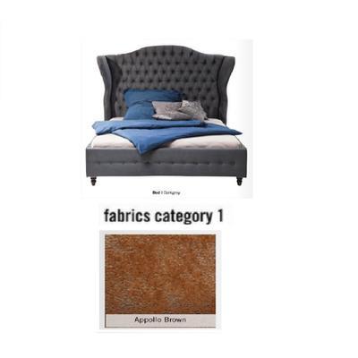 Cama City Spirit, tela 1 - Appollo Brown, (120x156x260cms), 140x200cm (no incluye colchón)