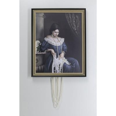 Cuadro Lady with Pearl Necklace 100x80