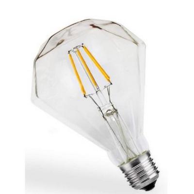 Bombilla de filamento LED Transparente Forma D95 - Rosca E27 - Luz Cálida - Dimerizable