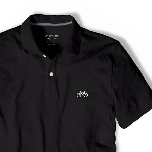 Polo Color Siete Para Hombre Negro - Bicicleta