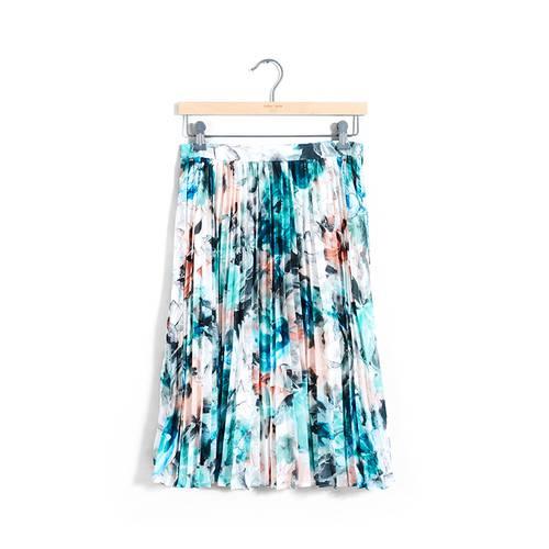 Falda Color Siete para Mujer - Verde