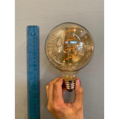 Globo amarillo LED en espiral pequeño E27