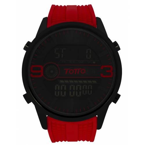 Reloj análogo negro-rojo 28-4
