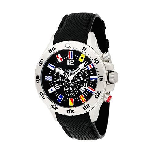 Reloj nst flag Negro - Plateado