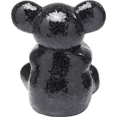 Objeto decorativo Teddy Bear Hug negro