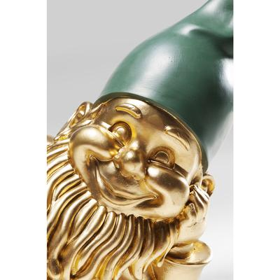 Figura decorativa Zwerg Lying oro verde 31cm