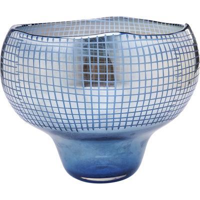 Vasija Grid Luster azul 28cm