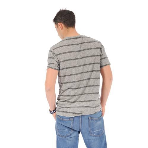 "Camiseta Cuello ""V"" Color Siete para Hombre - Gris"