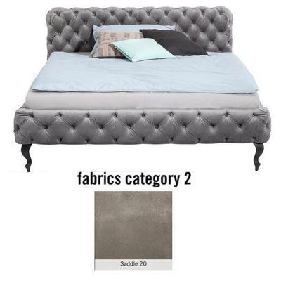 Cama Desire, tela 2 - Saddle 20,   (100x177x228cms), 160x200cm (no incluye colchón)