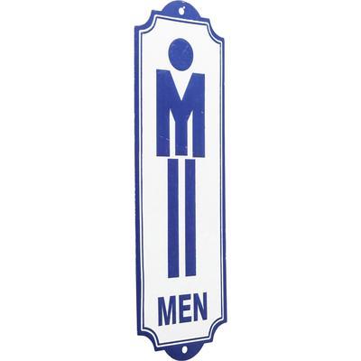 Cartel decorativo Toilet Men