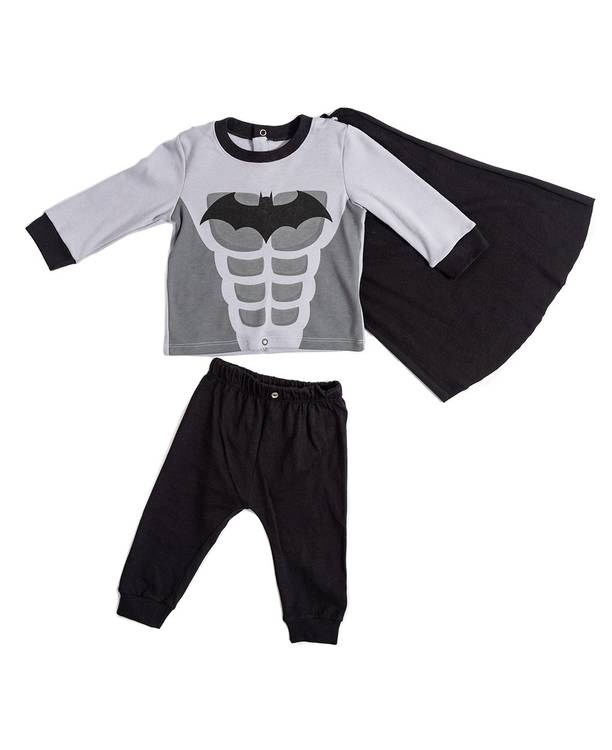 Pijama Con Capa Bebito Batman