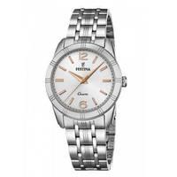 Reloj analógico blanco-plateado 40-4