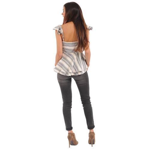 Blusa Florentina Color Siete Para Mujer - Gris