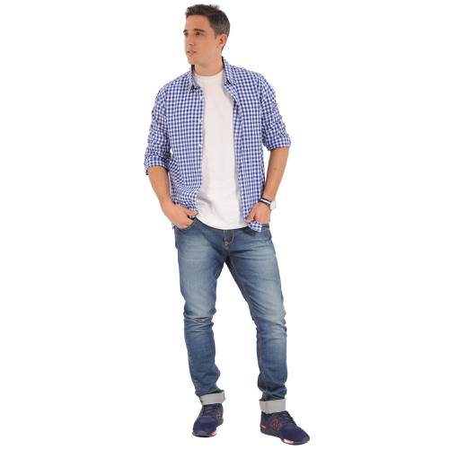 Camisa Manga Larga Springs Jack Supplies Para Hombre - Azul